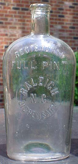 dating antique whiskey bottles